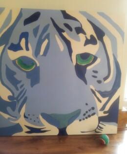Original – Blue Tiger Painting £120