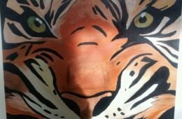 Original – Orange Tiger Head  £70