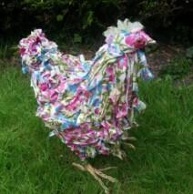 Floral Chicken Sculpture – £145 Sold