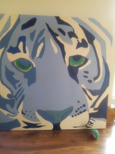 Blue Tiger Painting