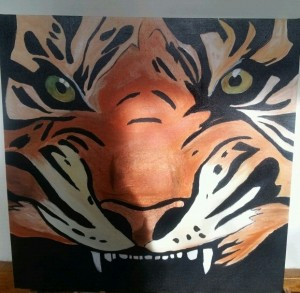 Tiger Head Painting