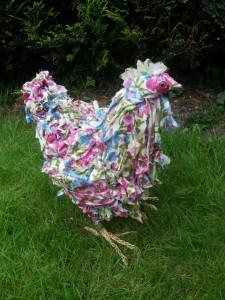 Floral chicken 1